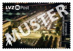 Sonderbriefmarke 0,75 € Leipziger Messe Glashalle