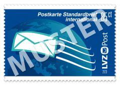 Sonderbriefmarke 0,85 € internationales Porto Postkarte / Standardbrief