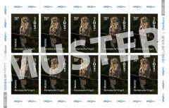 Briefmarke 2,50 € Heimische Vögel (Bogen)