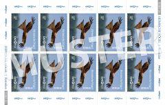 Briefmarke 0,50 € Heimische Vögel (Bogen)