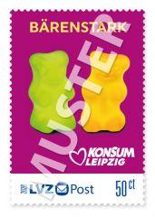 """Briefmarke 0,50 € Konsum """"Freche Früchtchen"""""""