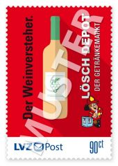 Sonderbriefmarke Lösch Depot 0,90 € Der Weinversteher.