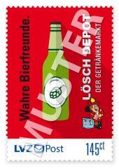Sonderbriefmarke Lösch Depot 1,45 € Wahre Bierfreunde.