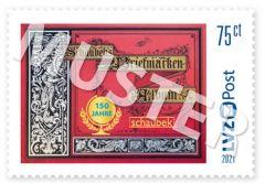 Sonderbriefmarke 0,75 € 150 Jahre Schaubek-Album