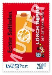 Sonderbriefmarke Lösch Depot 2,50 € Echter Saftladen!