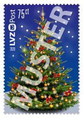 Sonderbriefmarke 0,75 € Weihnachtsbaum 2020